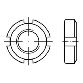 17 H blank DIN 70852 Nutmutter Feingewinde M 30 x 1,5