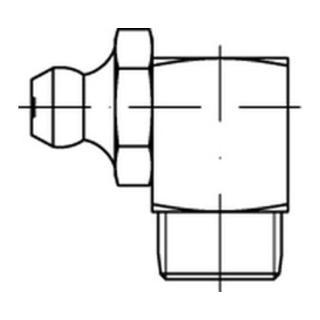 DIN 71412 Kegelschmiernippel 5.8 M 6 x 1 SW 9 galv. verzinkt