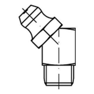 DIN 71412 Kegelschmiernippel 5.8 M 8 x 1 SW 9 galv. verzinkt