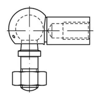 DIN 71802 Winkelgelenk Stahl 13 - M 8 galv. verzinkt