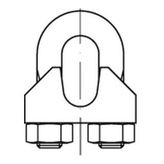 DIN 741 A 2 8 mm / M 6 5/16 ähnl. DIN 741 A 2 S