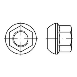 DIN 74361 Kugelbundmutter Form A M 18 x 1,5 SW 24  Stahl 8