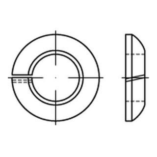 DIN 74361 Federringe Form C