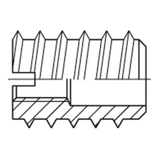 DIN 7965 Einschraubmuttern Messing M 8 x 30 Außendurchme