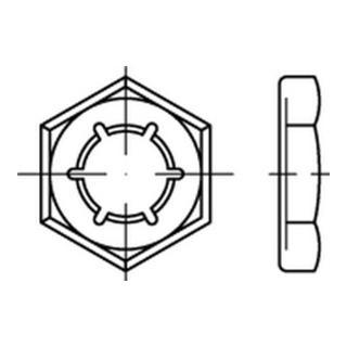 DIN 7967 Federstahl feuerverzinkt Sicherungsmutter (Palmutter)