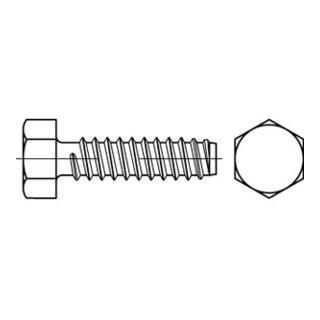 DIN 7976 Form F Sechskant-Blechschraube VG 4,2x25 Stahl galvanisch verzinkt