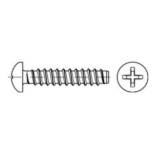 DIN 7981 Linsen-Blechschrauben Stahl 2,9 x 22 -F-H galvanisch verzinkt passiviert gal Zn S