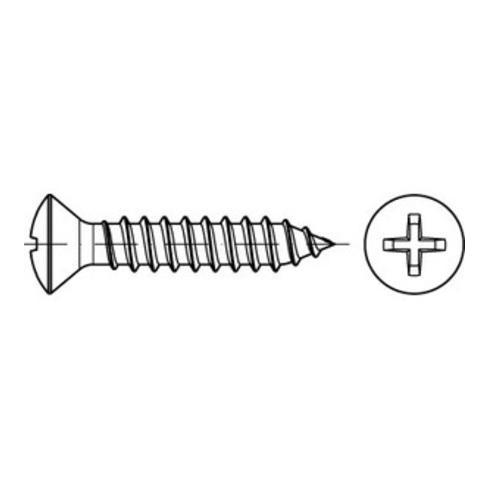 DIN 7983 Form C Linsensenkkopf-Blechschraube VG 2,9x9,5 Stahl galvanisch verzinkt PH