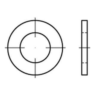 DIN 7989-1 Scheibe Edelstahl A4 Produktklasse C 11x20x8mm