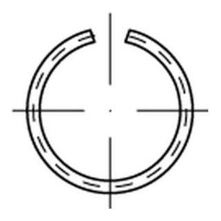 DIN 7993 Runddraht-Sprengringe für Wellen Form A