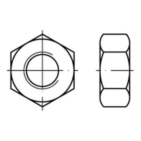 DIN 934/ISO 4032 Sechskantmutter M 48 x 5 Stahl blank