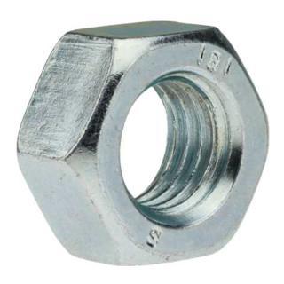 Sechskantmutter DIN 934 M 8 x 1,25 Stahl galvanisch verzinkt