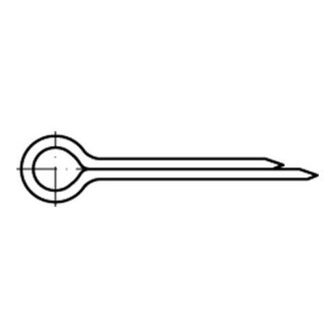 DIN 94/ISO 1234 Splinte, Stahl, galvanisch verzinkt