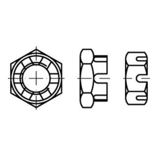 DIN 979 Kronenmutter niedrige Form 04 M 20 x 1,5 S