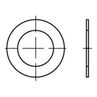 DIN 988 Passscheibe Stahl 45x55x0,3mm