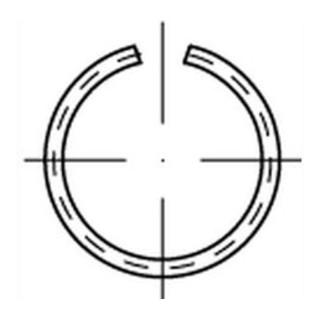 DIN 9925 Sprengring Federstahl-Draht 60