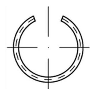 DIN 9926 Sprengring Federstahl-Draht 16