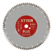 Disque à tronçonner diamanté STIER Plus Ø350mm alésage 25,4mm