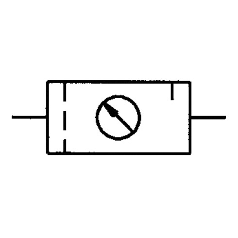 Distributeur pneumatique standard filetage mm 19,17 semi-automatique BG III 2 pc