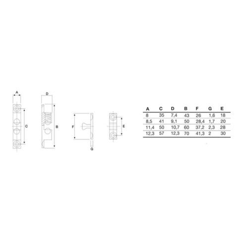 Doppelkugelschnäpper MS blk 50mm KGL u. Feder a. STA