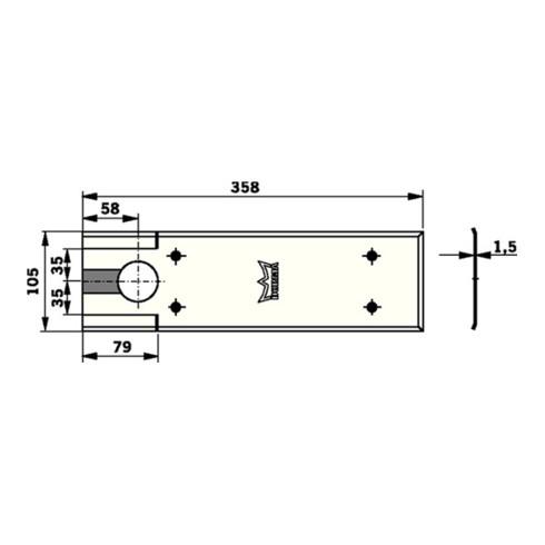 Dorma Deckplatte BTS 80/BTS 80 F/BTS 80 EMB/BTS VA feinmatt