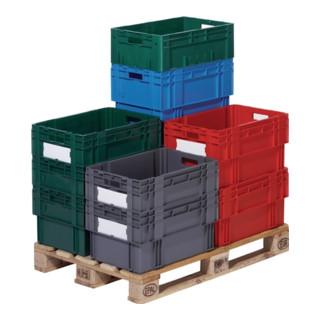 Drehstapelbehälter PP blau Trgf.65kg L.600xB.400xH.270mm