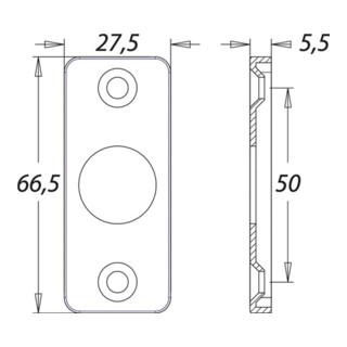 Drückerrosette 1305/0000 Aluminium F1 Schildstärke 5mm