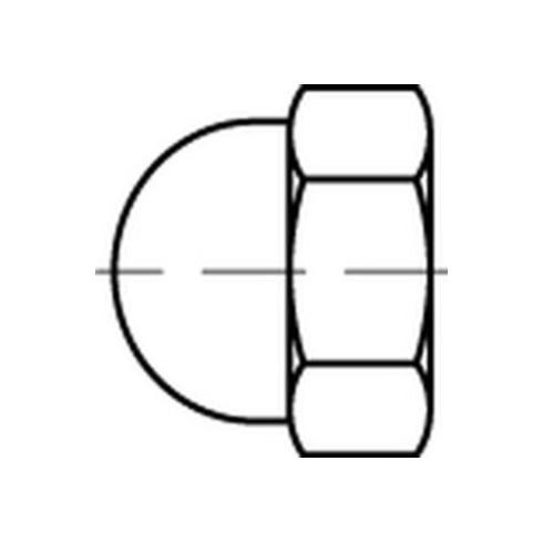 Dubo Dorned KORREX-Schutzkappe für Sechskantmutter, Kunststoff