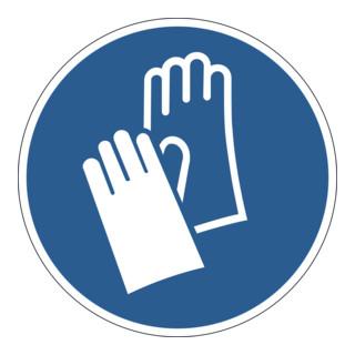 Durable Gebotsaufkleber Handschutz benutzen, ablösbar