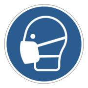 Durable Gebotsaufkleber Maske benutzen, ablösbar