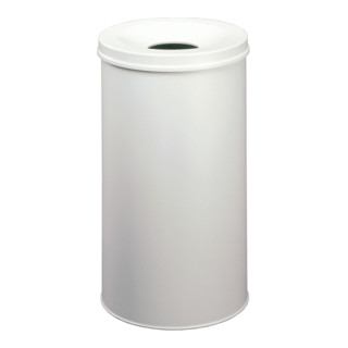 Durable Papierkorb safe rund Grau 60l