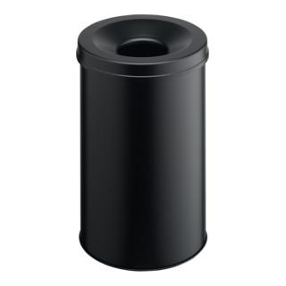 Durable Papierkorb safe rund Schwarz 30l