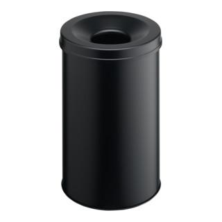 Durable Papierkorb safe rund Schwarz 60l