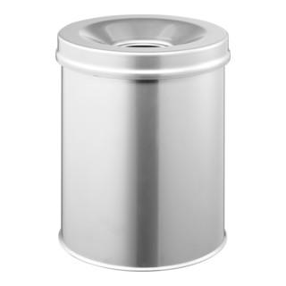 Durable Papierkorb safe rund Silber 15l