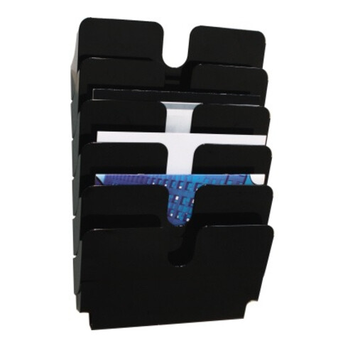 Durable Prospekthalter FLEXIPLUS 1700014061 A4 quer 6Fächer sw
