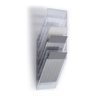 Durable Prospektspender-Set 6 Fächer A4 transparent