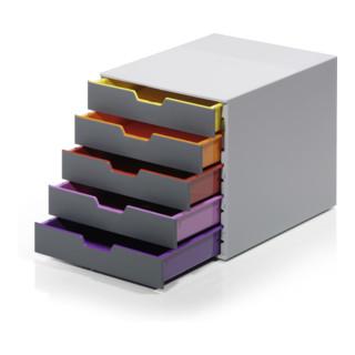 Durable Schubladenkasten Varicolor 5 Schübe