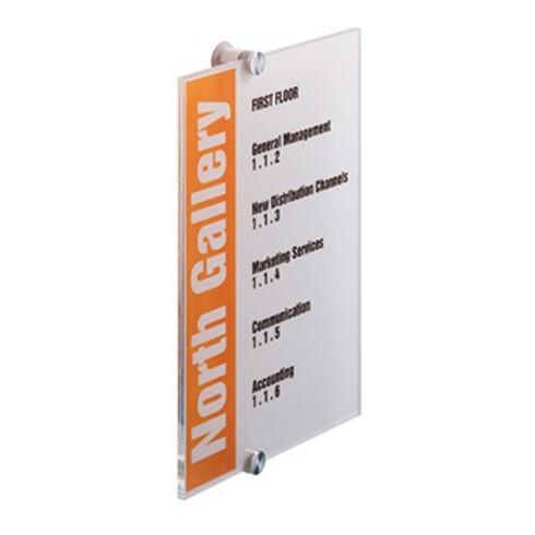 DURABLE Türschild CRYSTAL SIGN 482519 210x297mm transparent