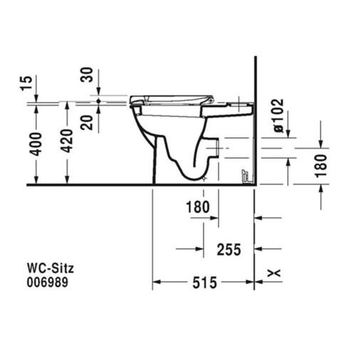 Duravit Stand-WC-Kombination DARLING NEW tief, 370 x 630 mm, Abgang Vario weiß