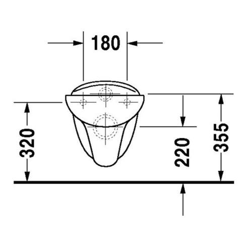 Duravit Wand-WC BAMBI DURAPLUS tief, 320 x 525 mm weiß