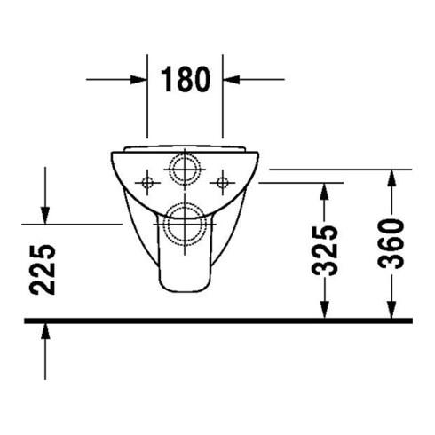 Duravit Wand-WC COMPACT D-CODE tief, 350 x 480 mm weiß