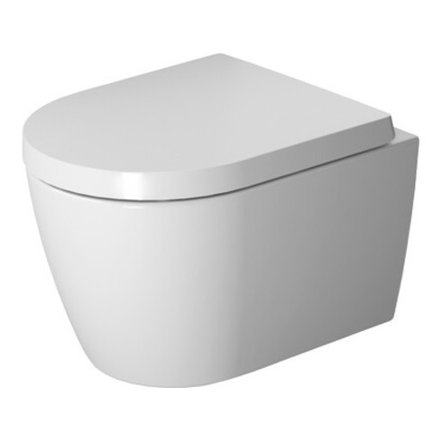 Duravit Wand-WC Compact Rimless ME by Starck tief, 370 x 480 mm weiß