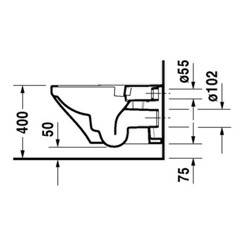 Duravit Wand-WC RIMLESS DURASTYLE tief, 370 x 620 mm weiß