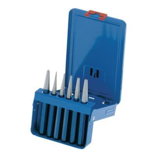 Durchtreibersatz 6tlg. 1-5mm +Körner 120x12mm PEDDINGHAUS i.Metallbox