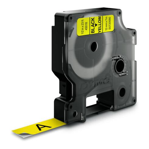 DYMO D1 Etikettenband Bandfarbe gelb Bandbreite 12mm