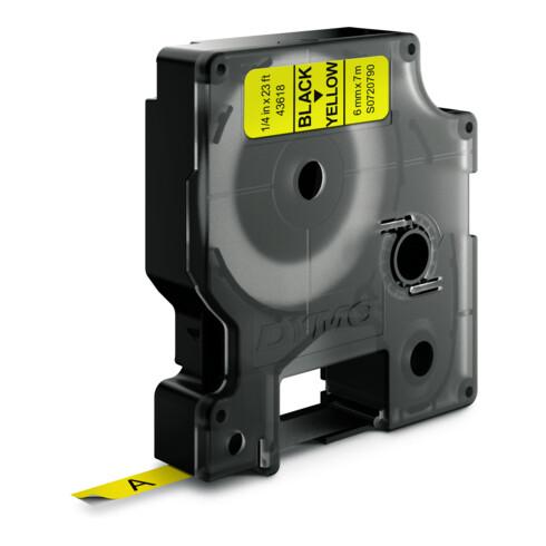 DYMO D1 Etikettenband Bandfarbe gelb Bandbreite 6 mm