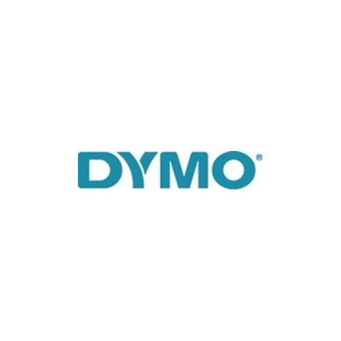Dymo Schriftband B.12mm/L.7m rot auf weiß