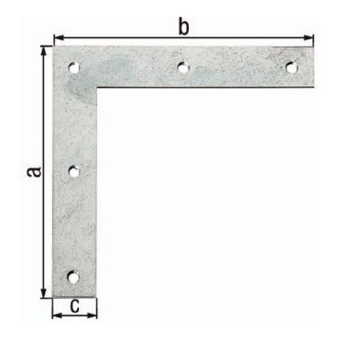 Eckwinkel L.120x120mm B.20mm S.1,5mm STA sendzimirverzinkt GAH
