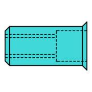 Écrou à river tige de rivet d x l 11 x 17 mm M8 acier inoxydable A2 tête petite
