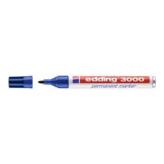 Edding Permanentmarker 3000 blau Rundspitze Strichbreite ca.1,5-3mm